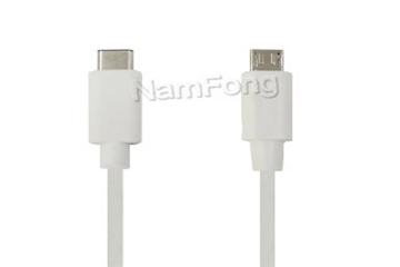 USB3.1cabel,USB C type,USB TYPE C TO TYPE C cable 白色 1米