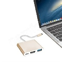 3in1-4 USB-C HUB To HDMI + USB + PD