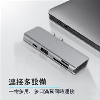 5in1-7 USB C TO PD+HDTV+USB+SD+TF  双C口扩展坞