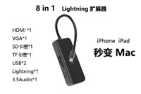 Lightning接口8合1多功能扩展坞Lightning To HDTV Multifunction Adapter