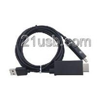 MHL视频线,MHL cable,MHL厂家,MHL高清线,HDMI AM TO MICRO 5P+11P+USB MHL CABLE