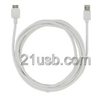 USB AM TO MICRO USB BM 3.0 CABLE 白色