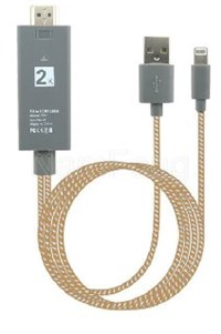 lingtning to hdmi cable ,HDMI to USB,HDMI TO LINGHTNING CABLE,LINGHTNING CABLE ,linghtning M  TO  HDMI M +USB M双支线 ABS外壳
