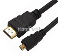 HDMI高清线,HDMI视频线,HDMI 19P AM TO MINI HDMI DM CABLE