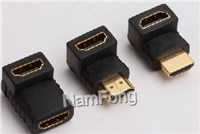 HDMI 转接头,HDMI 19PIN AM TO HDMI 19PIN AF  90度 转换头